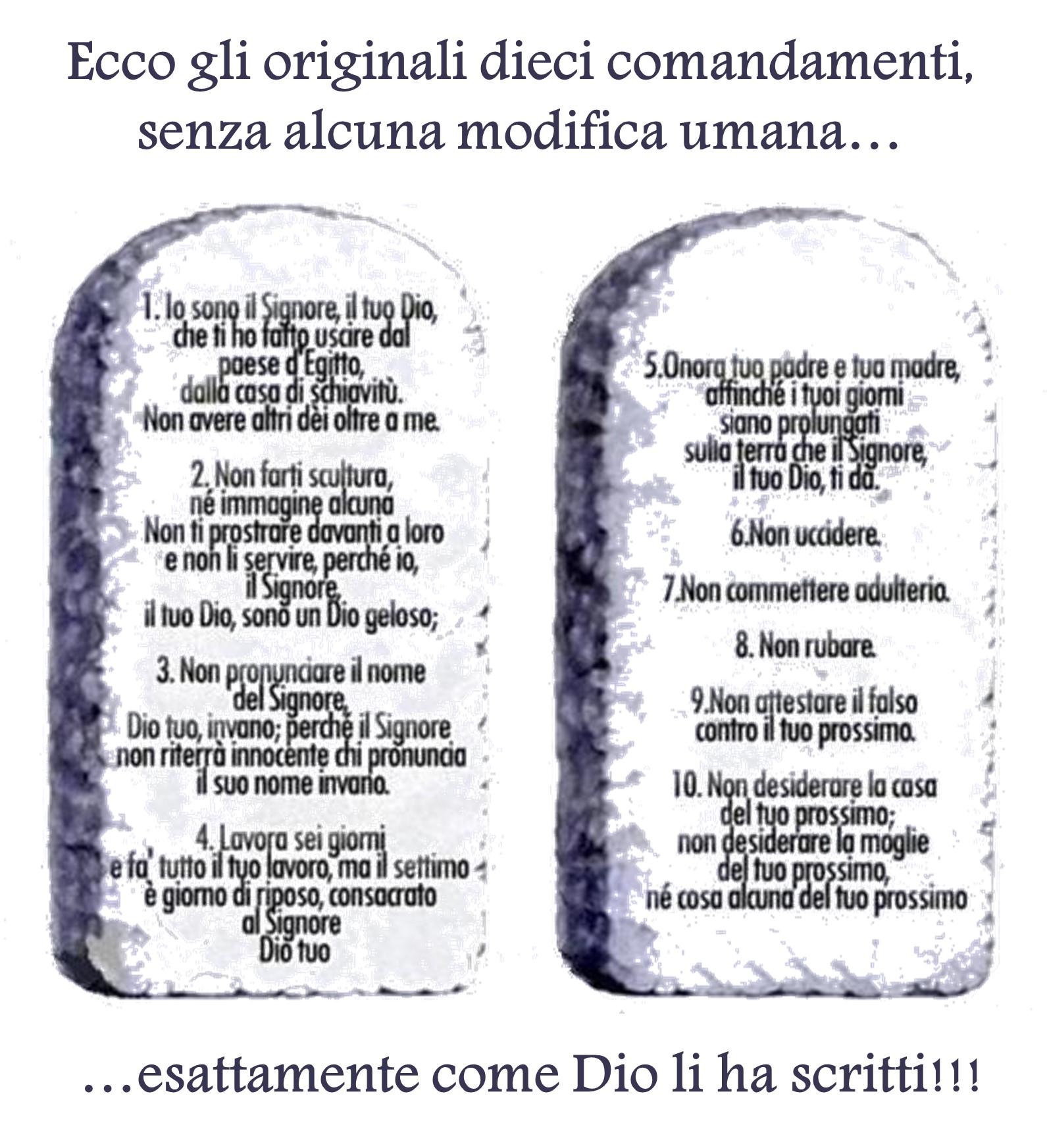 Cristiani evangelici e i dieci comandamenti dalla bibbia - Tavole dei dieci comandamenti ...