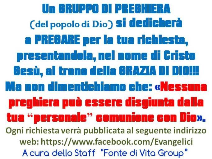 Evangelici in Preghiera